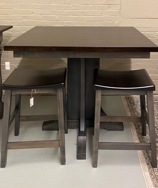 "Clifton 36"" x 44"" Solid Top Brown Maple Gathering Table (1295 Series) with 2 Clifton Stools--sold as a set $1,345"