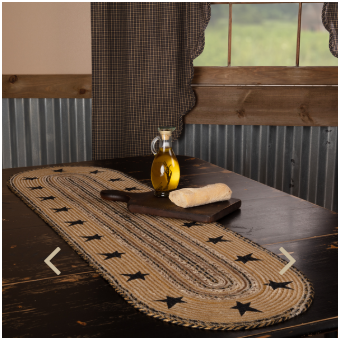 Kettle Grove Star Jute-Rugs and Table Top