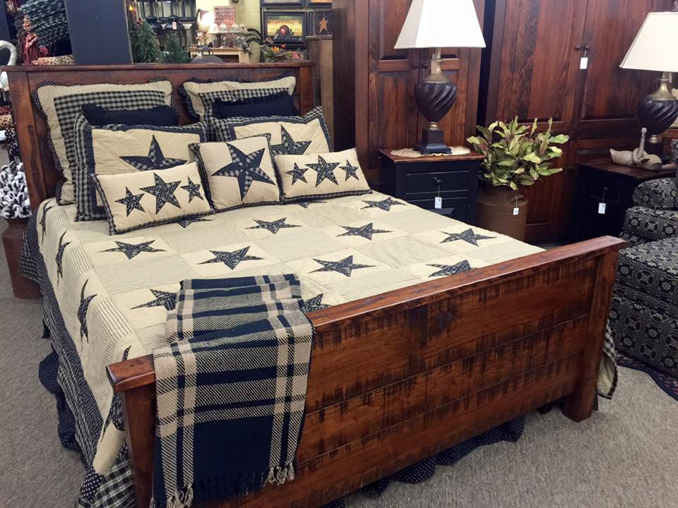 Rough Sawn Bed-Shown in Michael's Cherry