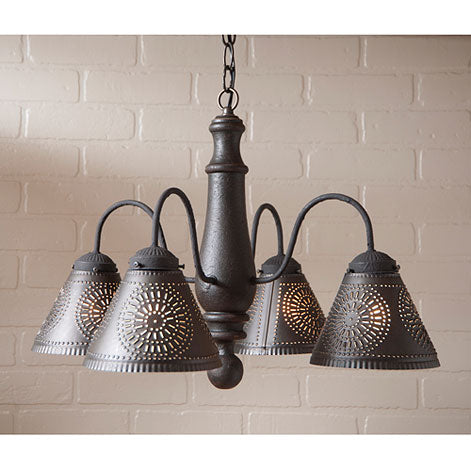 Crestwood Wooden Chandelier - Black