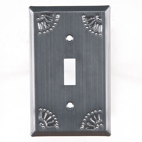 Single Switch Cover with Chisel in Country Tin