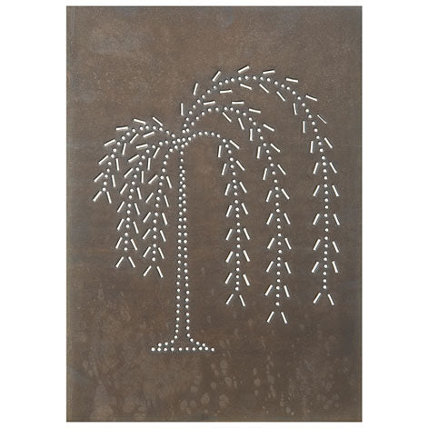 "Vertical Willow Panel 10""x14"" -Blackened Tin"