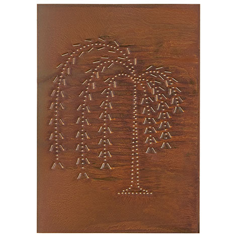"Vertical Willow Panel 10""x14"" - Rustic Tin"