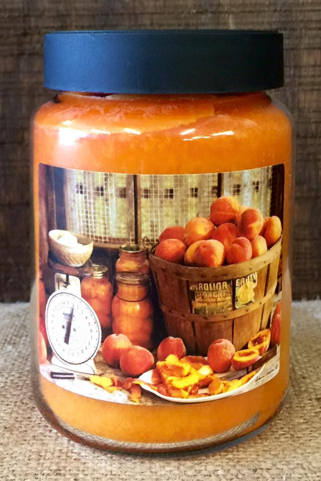 Peach Cobbler 26 oz. Jar Candle -Basket of Peaches
