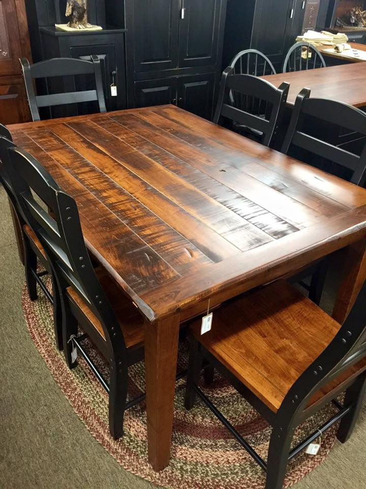Michael's Cherry 5' Farm Table with Rough Sawn Top