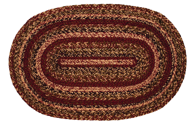 Apple Cider 4' x 6' Oval Braided Rug
