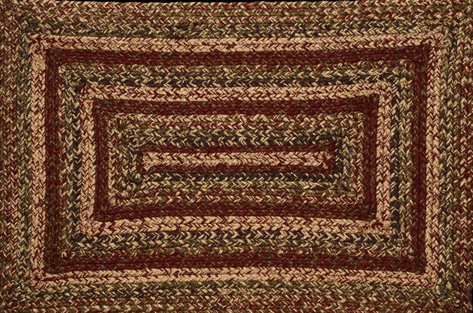 "Apple Cider 20"" x 30"" Rectangle Braided Rug"