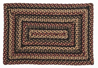 Blackberry Rectangle Braided Rugs