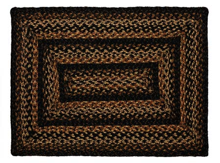 Black Forest 4' x 6' Rectangle Braided Rug