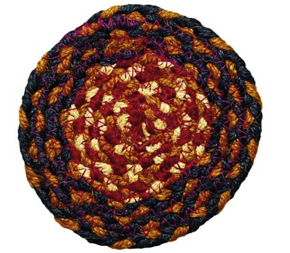 "Blueberry 4.5"" Braided Coaster"