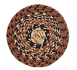 "Cappuccino 4.5"" Braided Coaster"