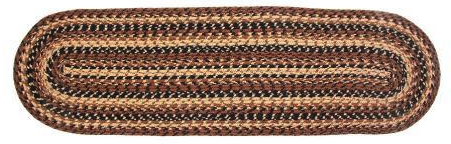 "Cappuccino 13"" x 48"" Braided Table Runner"