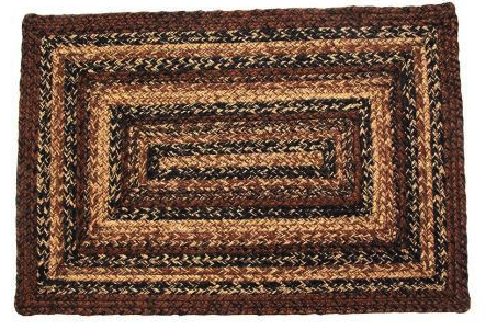"Cappuccino 20"" x 30"" Rectangle Braided Rug"