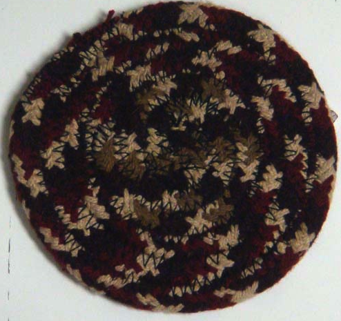 "Checkerberry 4.5"" Braided Coaster"