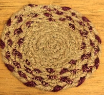 "Vintage Star 4.5"" Braided Coaster"