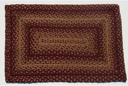 Vintage Star Rectangle Braided Rugs