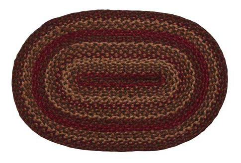 Cinnamon Oval Braided Rugs