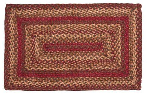 Cinnamon Rectangle Braided Rugs