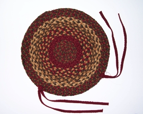 "Cinnamon 15"" Braided Chair Pad"