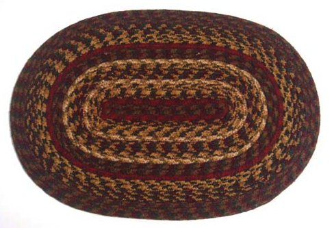 "Cinnamon 10"" x 15"" Braided Swatch"