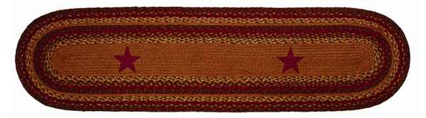 "Cinnamon Star 13"" x 48"" Braided Table Runner"
