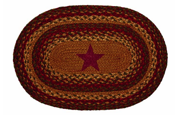 "Cinnamon Star 13"" x 19"" Braided Placemat"