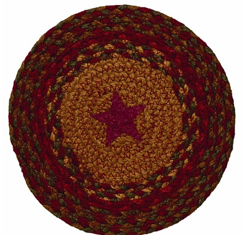 "Cinnamon Star 8"" Braided Trivet"