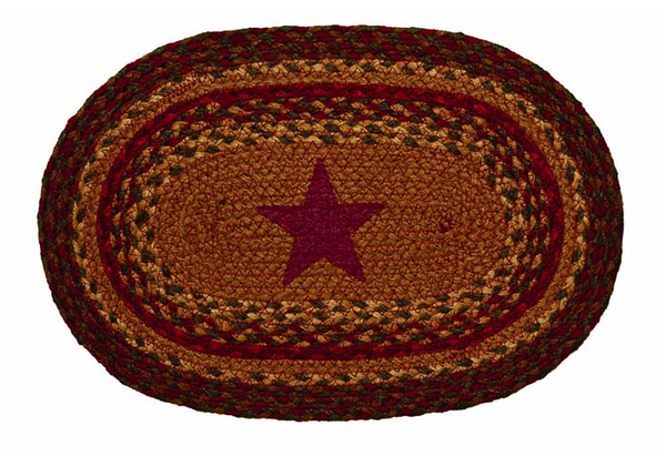 "Cinnamon Star 10"" x 15"" Braided Swatch"