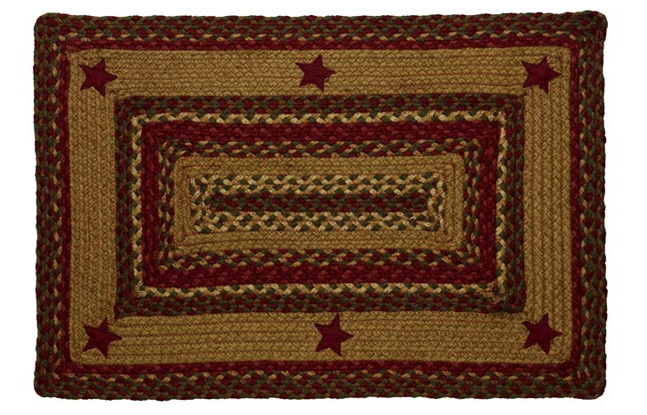 Cinnamon Star Rectangle Braided Rugs