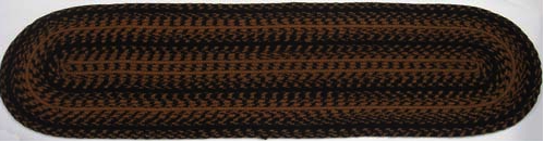 "Ebony 13"" x 48"" Braided Table Runner"