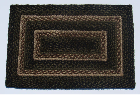 Pinecone Rectangle Braided Rugs