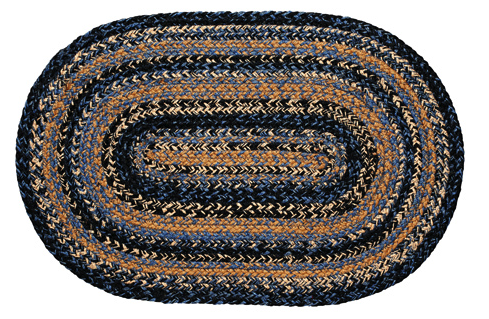 River Shale Oval Braided Rugs