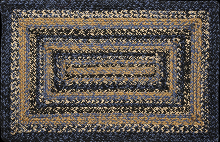 River Shale Rectangle Braided Rugs