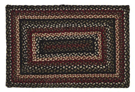 Tartan Rectangle Braided Rugs