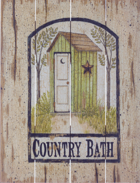 Country Bath Barn Star Outhouse