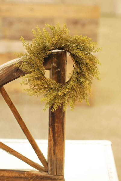 "10""/4"" Wheat Candle Ring Green"