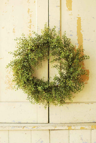 "20"" Baby's Grass Wreath Green"