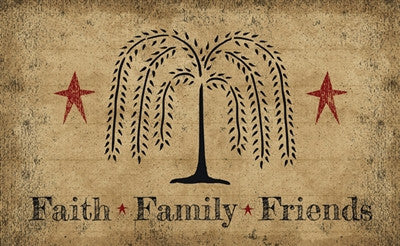Faith, Family, Friend Decorative Floor Mat