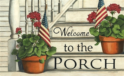 Welcome To The Porch Decorative Floor Mat