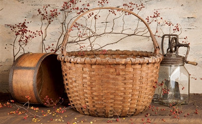 Basket Butter Churn Decorative Floor Mat