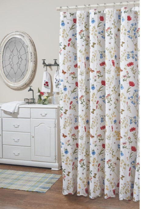 Wildflower Scalloped Shower Curtain