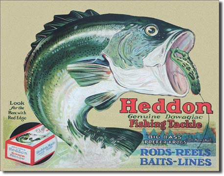 Heddon - Frogs Tin Sign