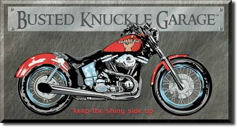 Busted Knuckle Tin Sign
