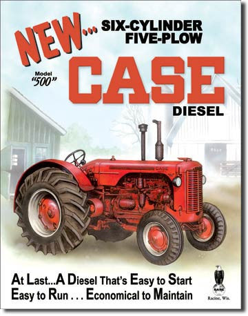 Case - 50 Diesel Tin Sign