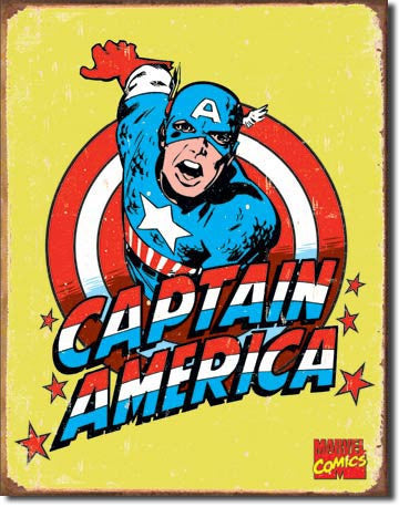 Captain America Retro Tin Sign
