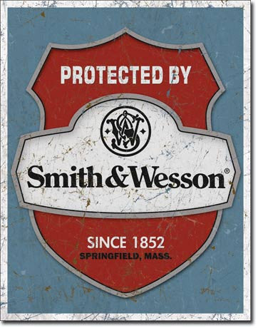Smith & Wesson - Protected Tin Sign