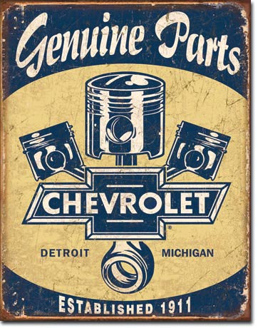 Chevy Parts - Pistons Tin Sign