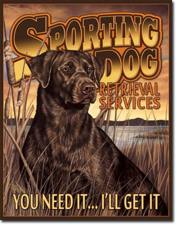 Sporting Dog Service Tin Sign