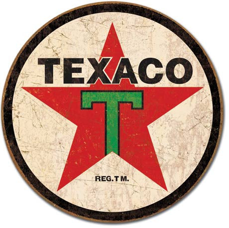 Texaco - '36 Round Tin Sign