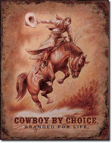 CBC - Saddle Bronc Tin Sign
